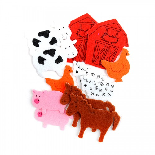 Felt Stickers - 12 Pcs