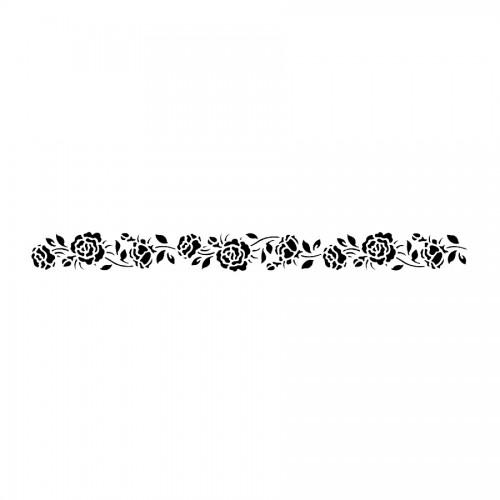 Stencil E cm. 60x7 Roses