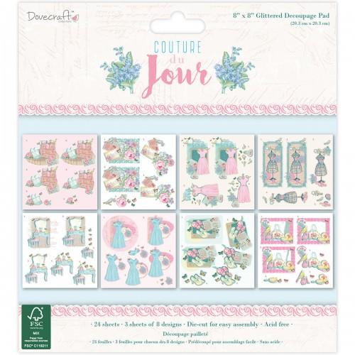 Dovecraft Couture du Jour 8x8 Glittered Decoupage Pad