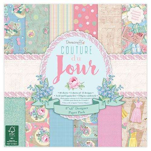Dovecraft Couture du Jour 8x8 Paper Pack FSC