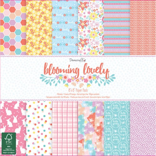Dovecraft Blooming Lovely 8x8 Paper Pack FSC