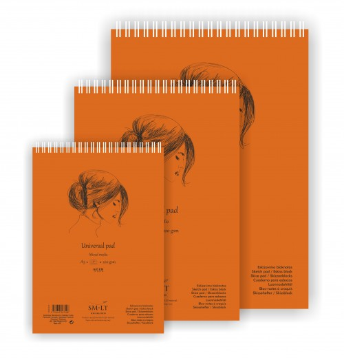 UNIVERSAL SKETCH PAD AUTHENTIC (mixed media)A4, 40 sheets,200gsm
