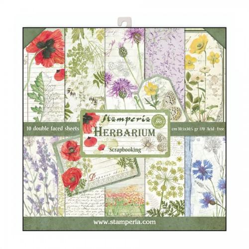 Block 10 sheets 30.5x30.5 Double Face Herbarium