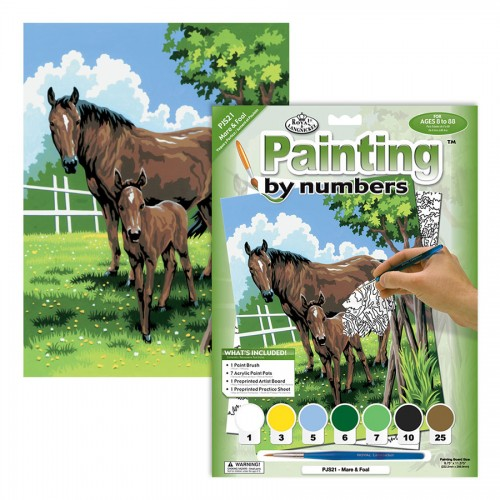 MARE & FOAL MINI PAINTING BY NUMBERS