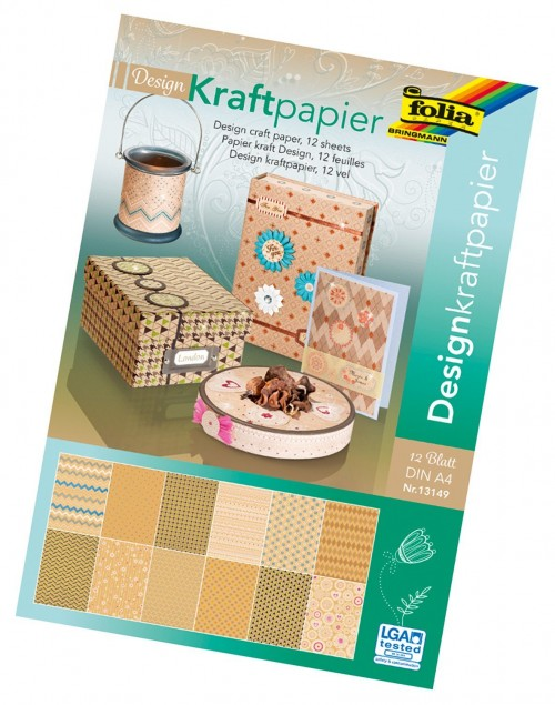 Design craft paper pad, DIN A4 12 sheets