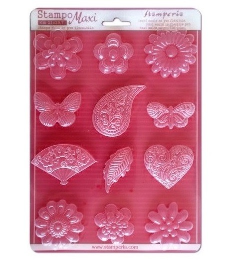 Soft Maxi Mould - Flowers, hearts and butterflies