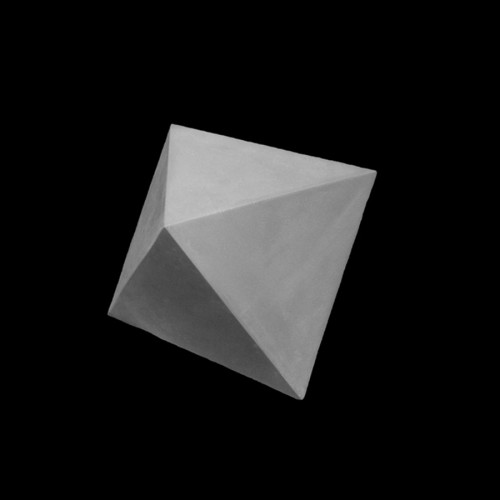 Plaster Cast The Octahedron