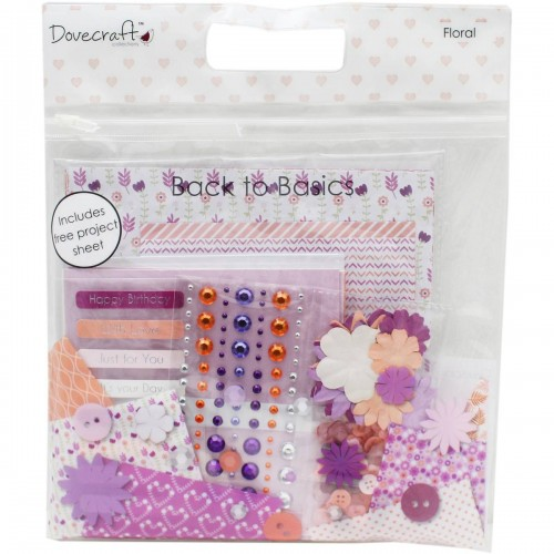 Dovecraft Back To Basics Goody Bag  Floral Purples