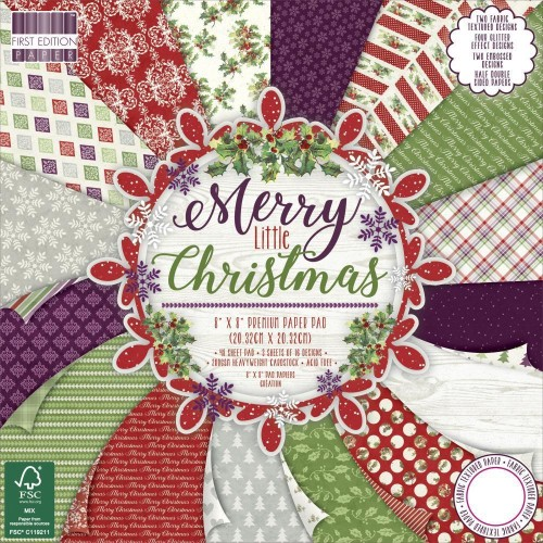 First Edition Merry Little Christmas 8 x 8 paper pad FSC
