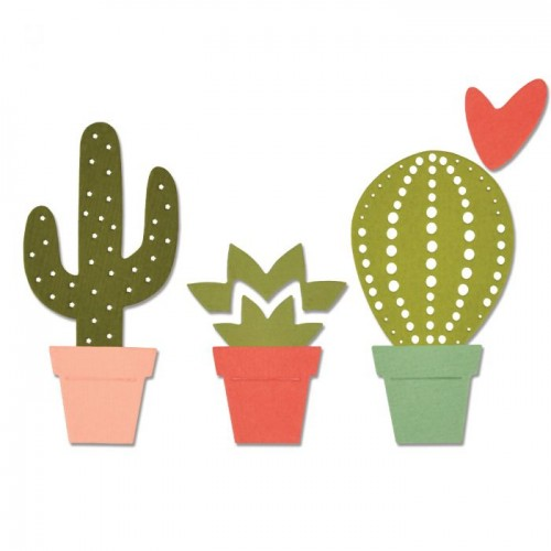 Thinlits Die Set 6PK Cacti by Debi Potter
