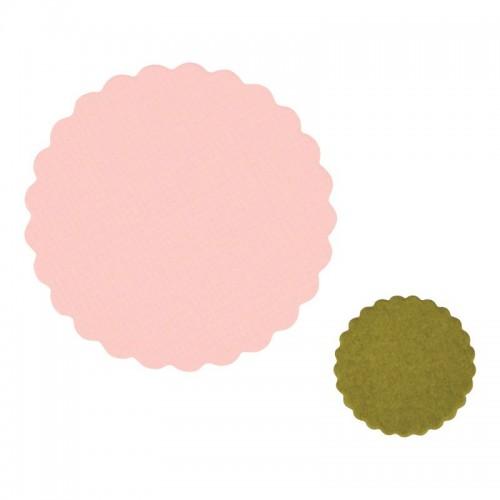 Framelits Die Set 2PK Small Scallop Circles