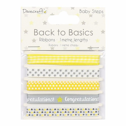 Dovecraft Back to Basics Baby Steps Ribbon Pack