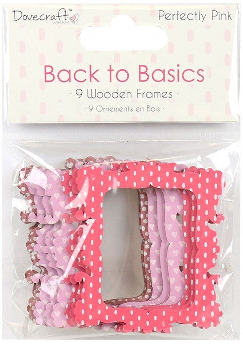 Dovecraft Back to Basics Perfectly Pink Wooden Frames