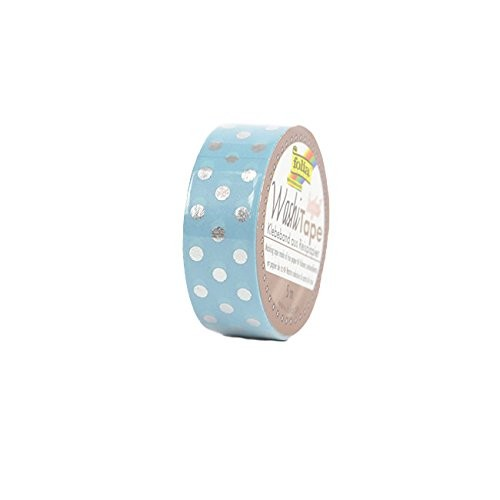 Washi-Tape, 15mmx5m HOTFOIL SILVER dots