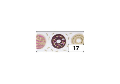 Washi-Tape, 15mmx5m HOTFOIL GOLD donuts