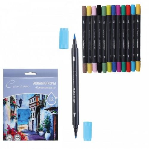Aqua marker, set, Sonet, 12pcs. Primary colors