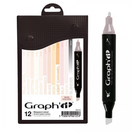 GRAPH'IT Marker, Set of 12 - Skin