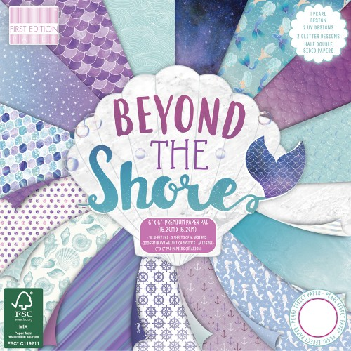 First Edition FSC 8x8 Beyond the Shore Paper Pad