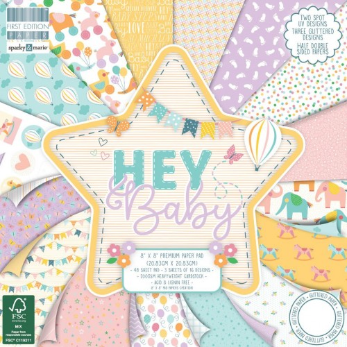 First Edition FSC 8x8 Hey Baby Paper Pad