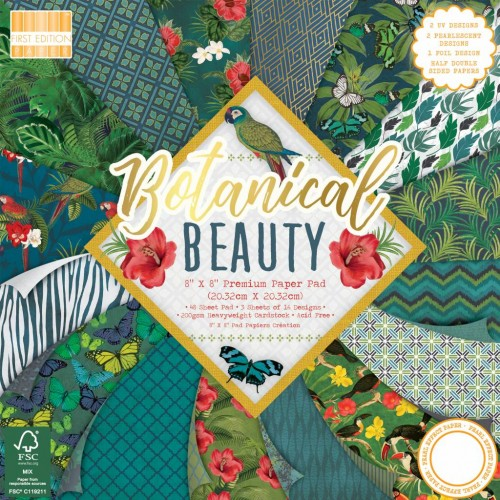 First Edition FSC 8 x 8 Botanical Beauty Paper Pad
