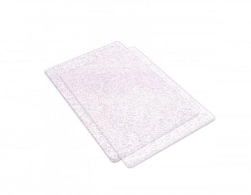 Cutting Pads Standard 1Pair (Clear w/Silver Glitter)