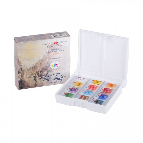White Nights,12 Pans Set IWS ,Plastic box Water colour