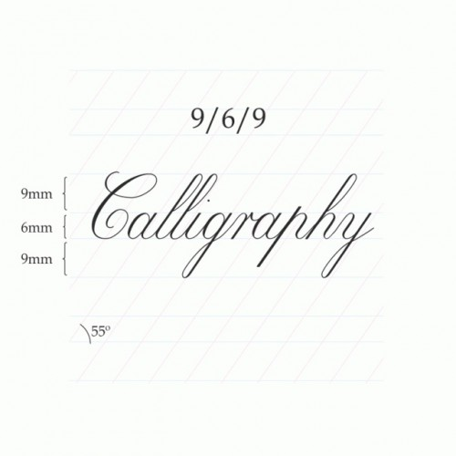 Copperplate Calligraphy 9/6/9mm  – A4 Paper Pad (Portrait)