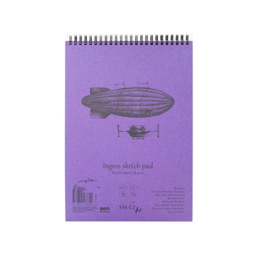 Sketch pads Authentic Ingres 130 gsm. A5: 25 sheets.Natural white Ingres paper with cotton.