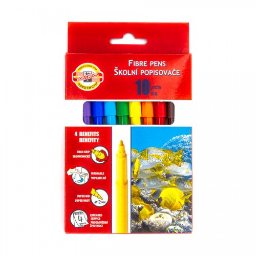 Set Of Fibre Pens 10Pcs