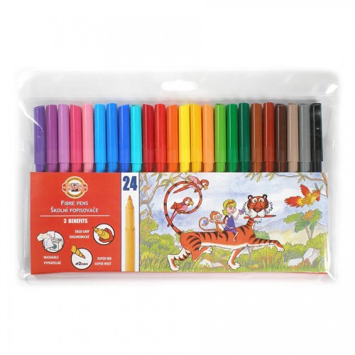 Set Of Fibre Pens 24Pcs