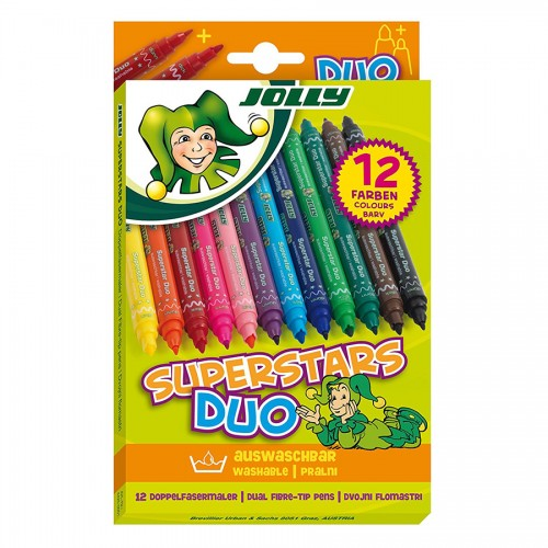"Set Of Fibre Pens ""Jolly"" Duo 12Pcs"