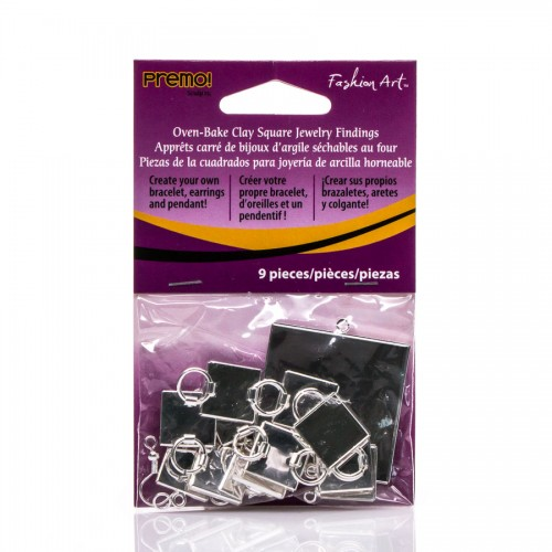 Square Jewerly Findings 9Pc Polyform