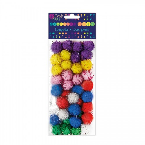 Polyester Metalised Pom Poms
