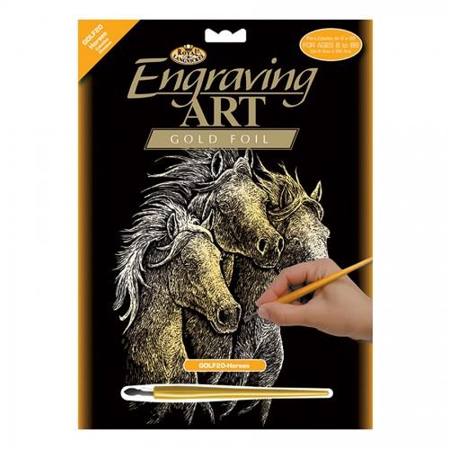 Horses  Gold  Foil
