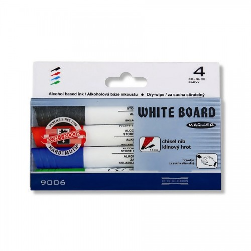 SET OF WHITE BOARD MARKERS 9006 4 CHISEL