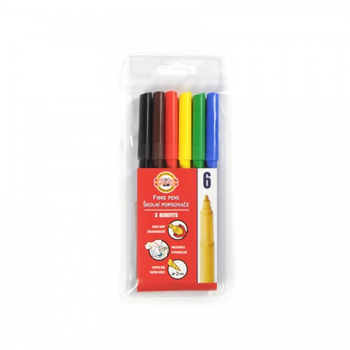SET OF FIBRE PENS 1002 6