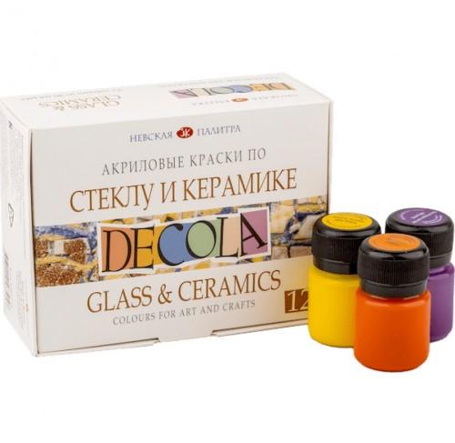 «Decola» Acrylic set for glass and ceramics , 12 x 20ml