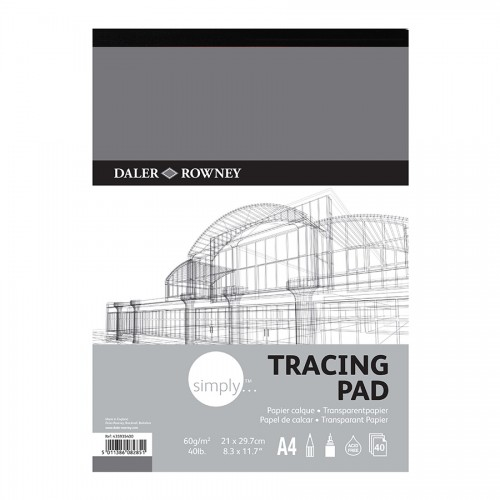 Tracing Pad A4 60Gr40Sht, Daler-Rowney
