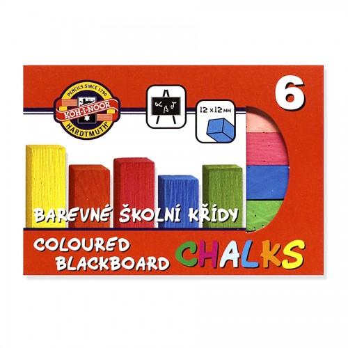 Set of colour chalk  6pcs