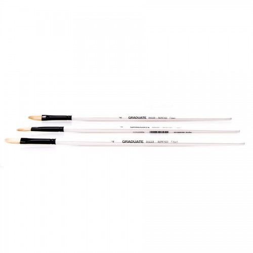 Bristle brushes, oval, Daler-Rowney