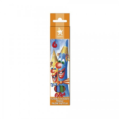 set of plastic coloured pencils 2161 6 Centi Extra