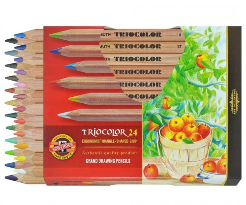 set of magnum triangular coloured pencils
