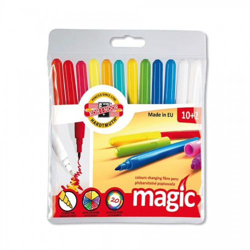 Set Of Fibre Pens Magic10+2