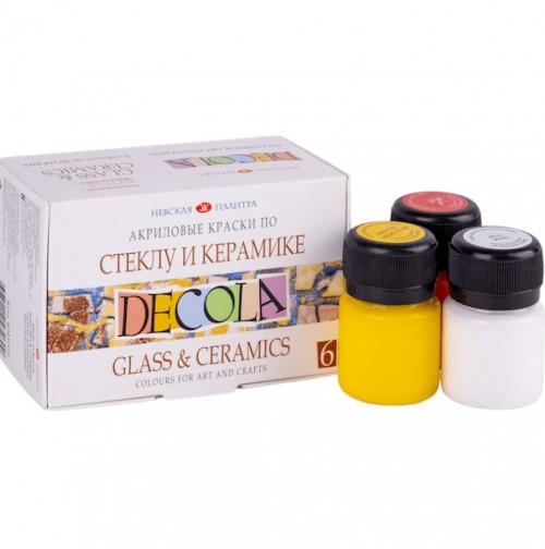 «Decola» Acrylic set for glass and ceramics , 6 x20ml
