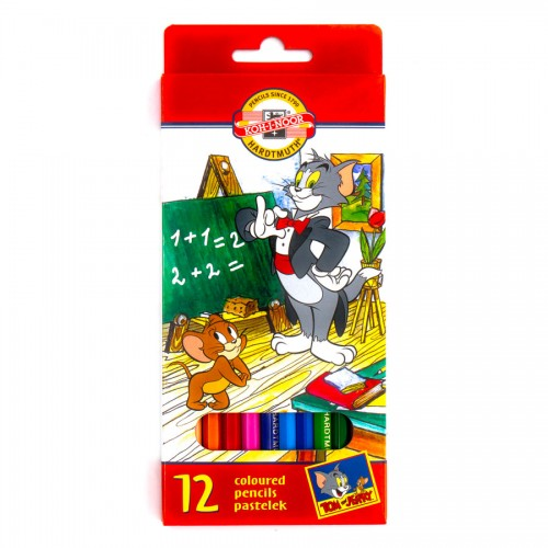 "Set Of Coloured Pencils  12Pcs ""Tom&Jerry"""