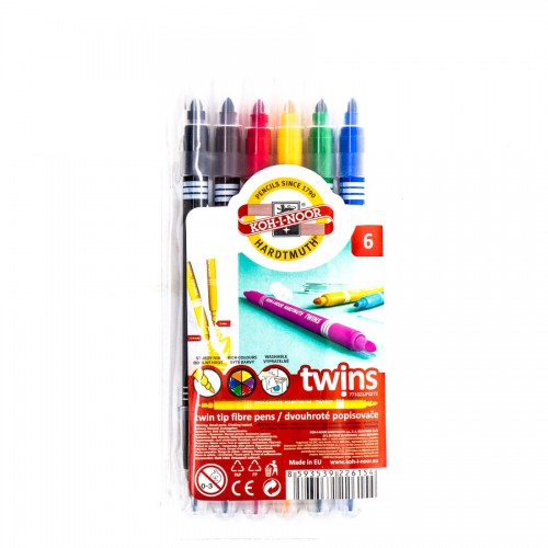 Set Of Fibre Pens 6Pcs