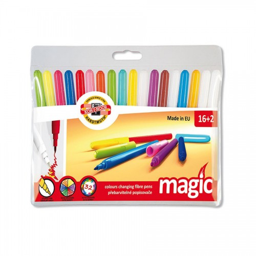 Set Of Fibre Pens Magic 16+2