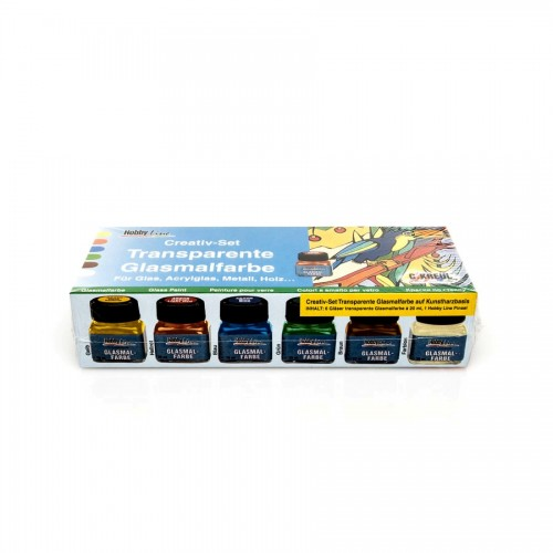 Glass Paint Set 6X20Ml Hobby Line C.Kreul