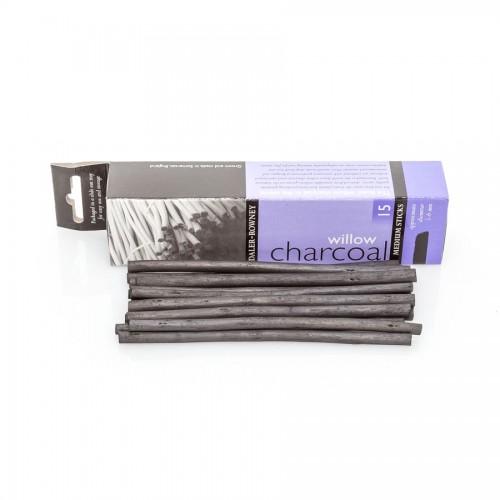 Charcoal Naturel 5-6Mm 15Pcs. Daler-Rowney