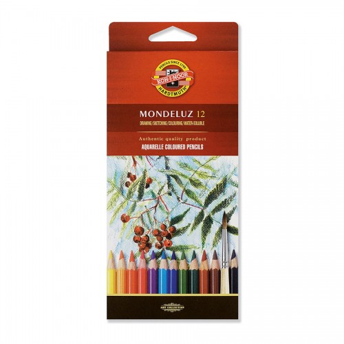 "Set Of Aquarel Col-Pencils ""Mondeluz"" 12 Pcs"